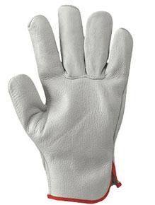 guanti in pelle fiore bianco