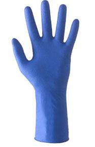 guanto in lattice blu