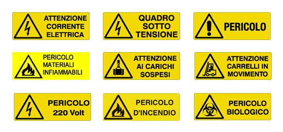 cartelli di pericolo